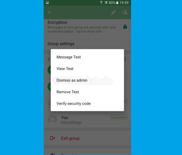 Whatsapp DEMOTE ADMINISTRATOR FEATURE