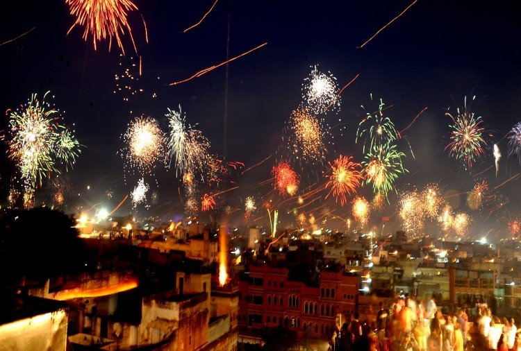 Makar sankranti celebrated as a diwali celebration in jaipur rajasthan