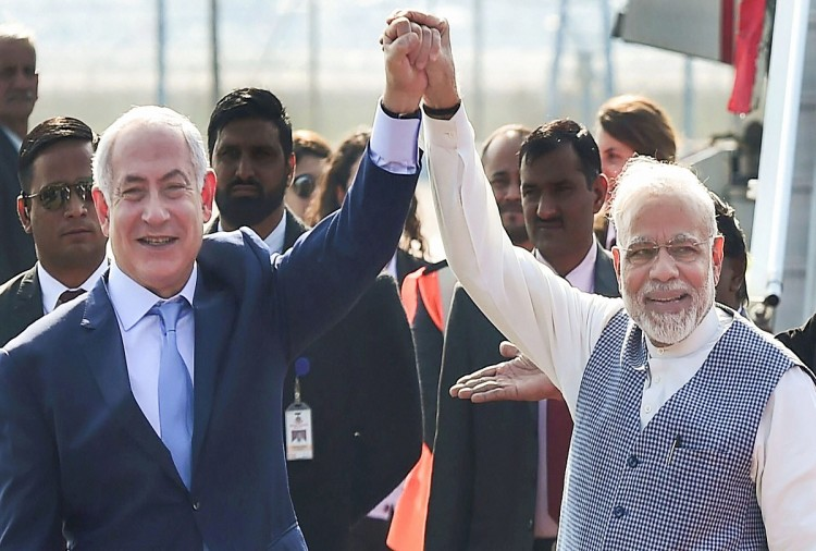 PM Modi receive Israel Prime Minister benjamin netanyahu and host a dinner tonight