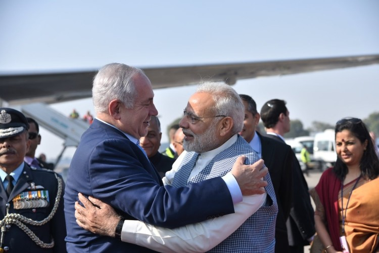 Congress take a dig at PM modi and netanyahu meeting is Hugplomacy