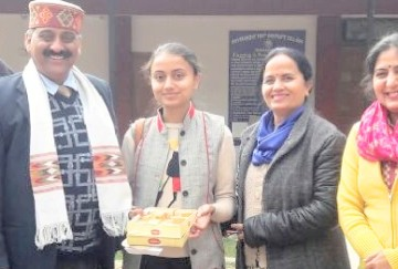 ayushi gautam of dharamshala college top in mathematics