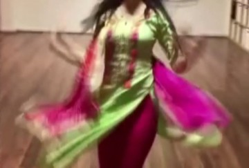 video being viral of german girl dance on bollywood song in punjabi style