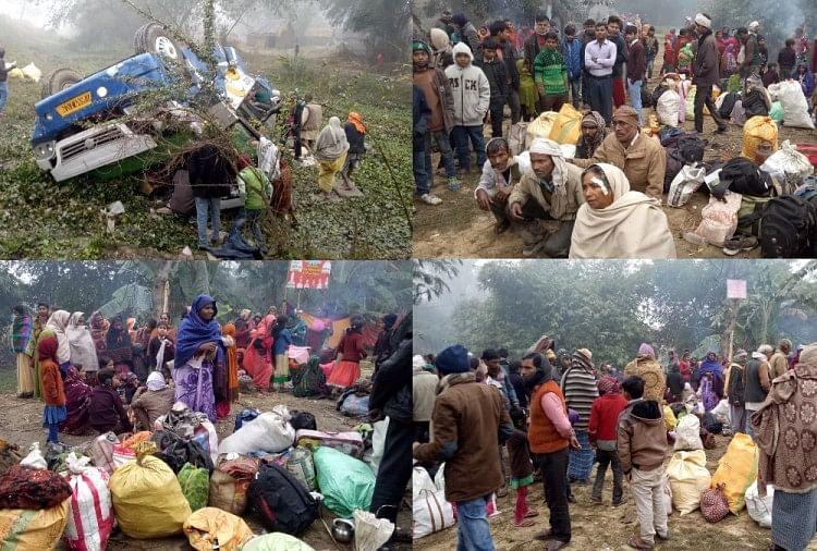 Image result for बलरामपुर में श्रद्धालुओं से भरी बस पलटी