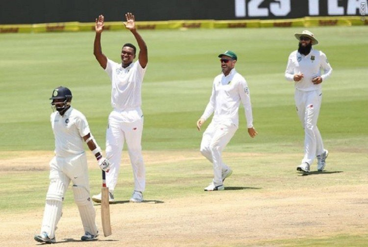 lungi ngidi takes six wickets against india in centurion test