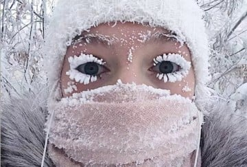 Minus 67 degrees temperature reached in Russia