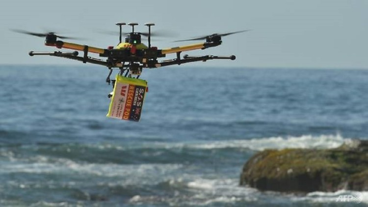 Worlds first ever drone sea rescue operation in australia
