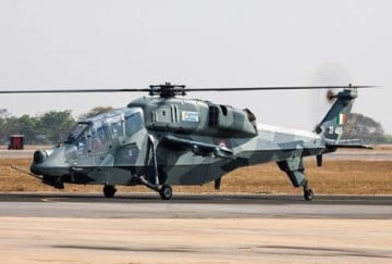 indian air force testing this make in india helicopter near indo pak border