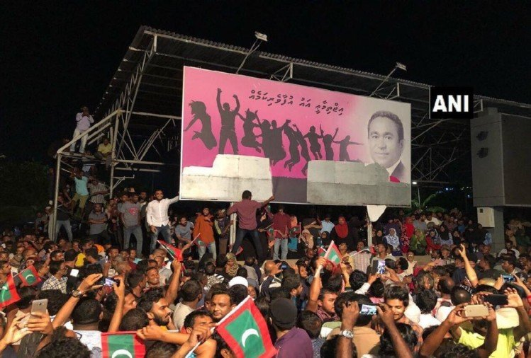 maldives emergency china india president abdulla yameen