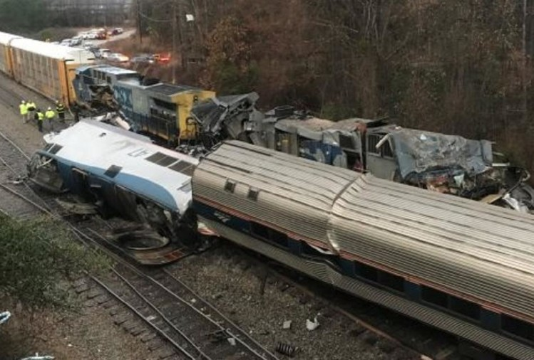 America: South Carolina train derailed killing two passengers and swenty injured
