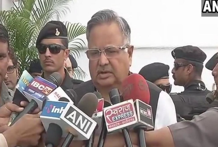 Contesting election is a democratic right Raman Singh says on Ajit Jogi contesting from Rajnandgaon