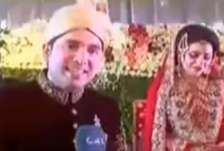 pakistani journalist live reporting from his own wedding ceremony