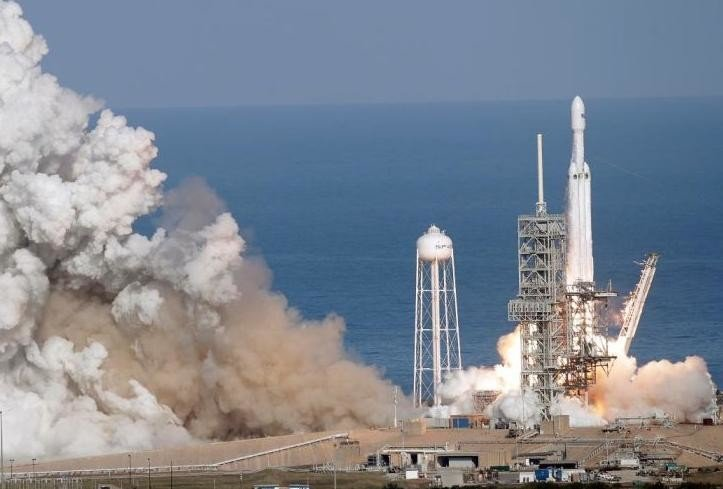Most powerful Rocket Falcon Heavy launched by spacex from florida