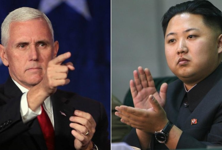 US deputy president mike pence warn north korea for toughest sanctions