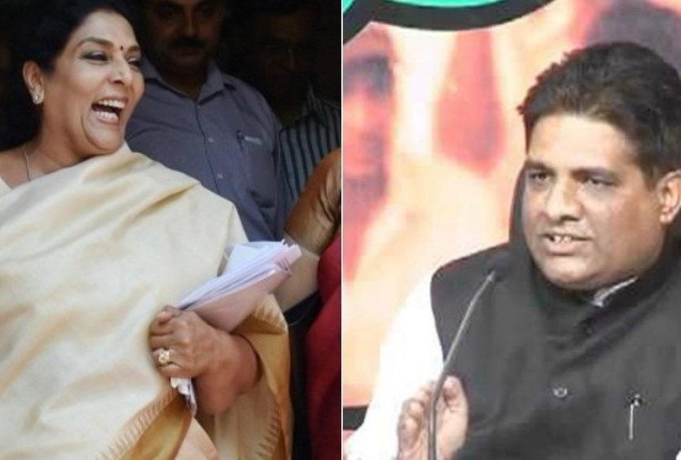 Bjp leader Bhupendra Yadav criticise Congress leader Renuka Chowdhury laughter