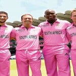 South Africa in pink dress