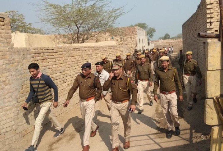 Rajasthan Police teams conducted search in village Kotha