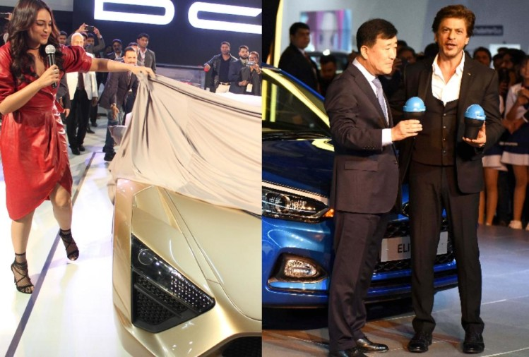 auto expo 2018: bollywood stars are also big attraction of event, shahrukh and sonakshi on day 2