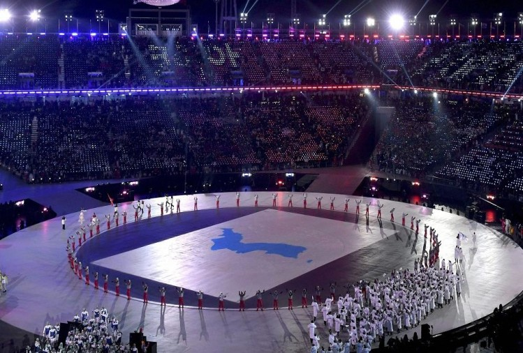 Opening ceremony of 23rd Winter Olympics With Hope for Peace between North korea and South Korea