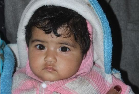 six month innocent girl child found in public bustbin