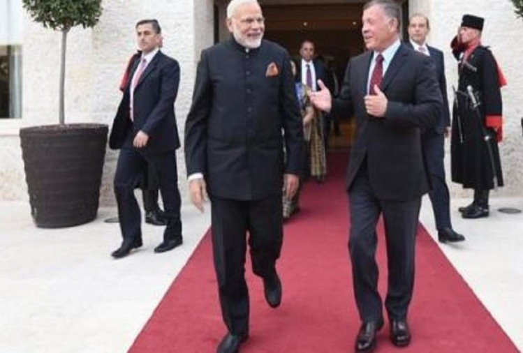 Prime minister narendra modi is on three countries UAE Oman and Palestine visit