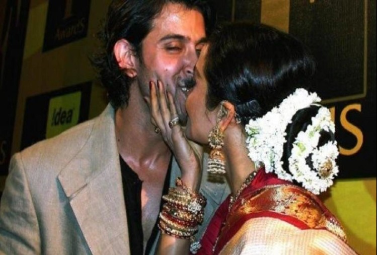 Image result for Kiss Day : ऋतिक रोशन और रेखा
