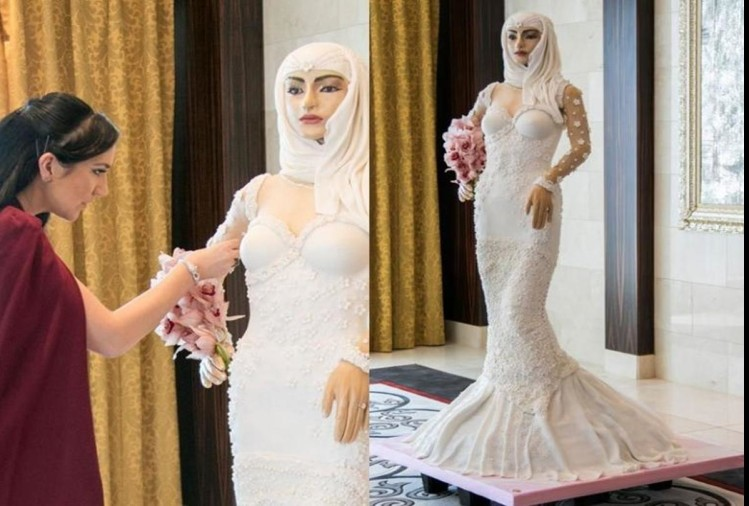 The worlds most expensive cake it looks like a wearing gown bride