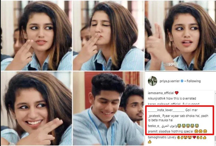 Social Media reaction after Priya Prakash posts new teaser of her film Oru adaar love