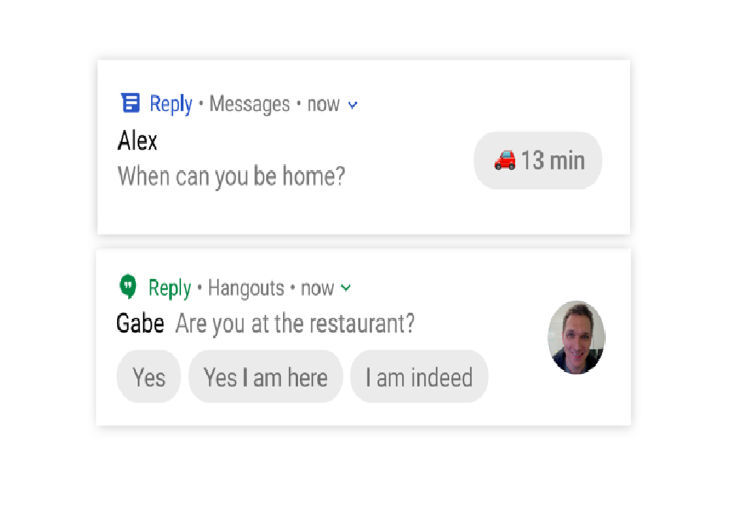 Google Testing a New App Reply for Android to Responses messages