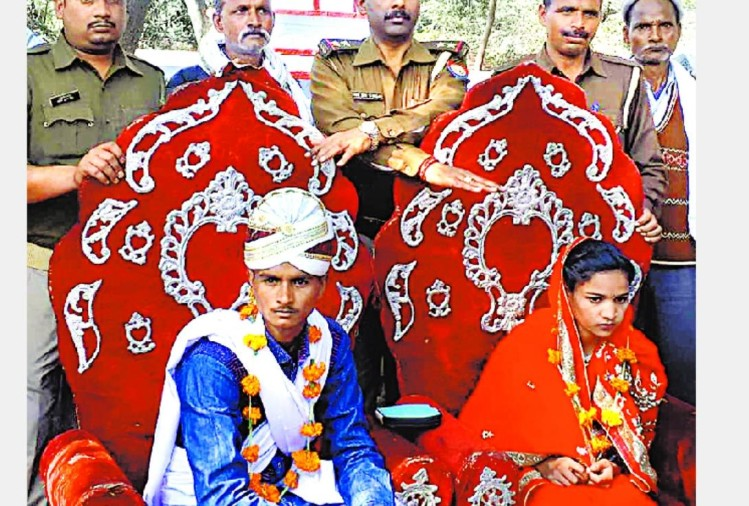 the couple married in a police station on valentines day