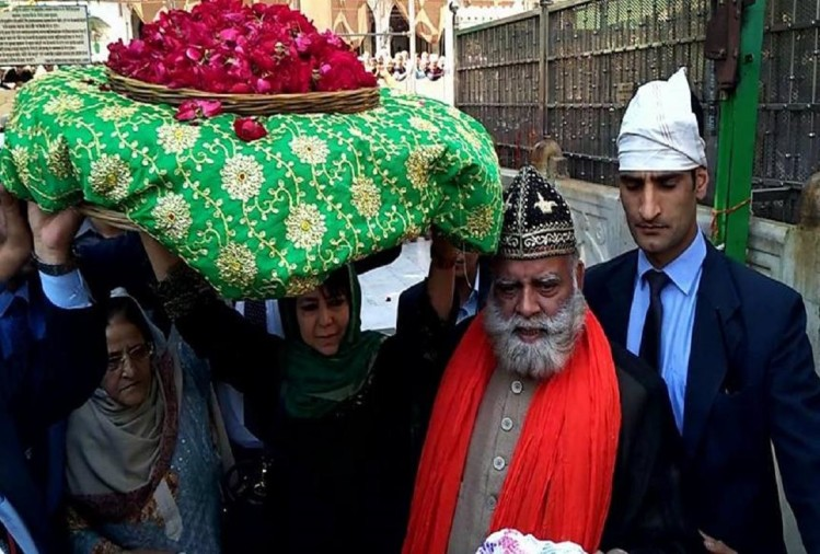 The Chief Minister of Jammu and Kashmir reached the Khwaja dargah in ajmer rajasthan