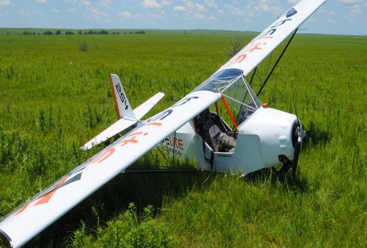 A microlight aircraft crashed in Assam during a routine sortie, Two Air Force personnel killed