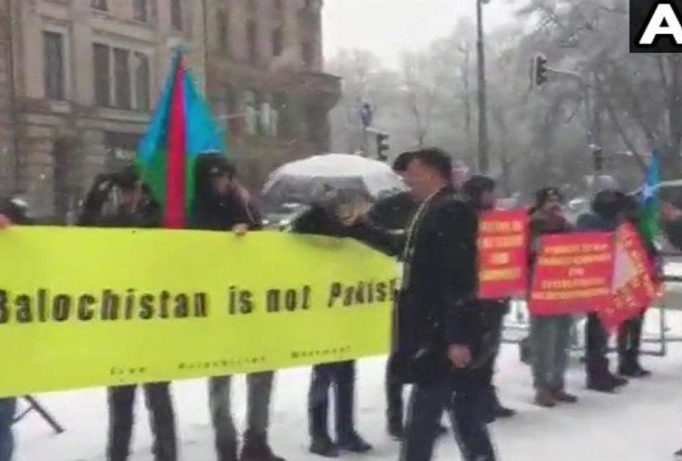 slogans raised agaist pakistan chinas CPEC in germany by bloach republican party