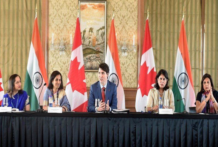 Indian businessmen meet with Canadian PM Justin Trudeau at Taj Mumbai maharashtra