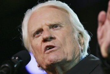 billy graham treated as angle of god