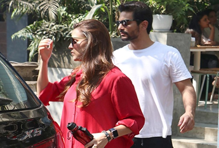 Neha Dhupia and Angad Bedi spotted lunch date together