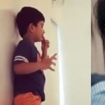 Allu Arjun trying to copy Priya Prakash Varrier video actions with his son