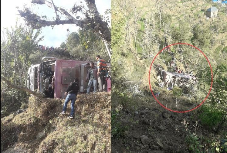 Private bus accident in mandi himachal 1 died 59 injured