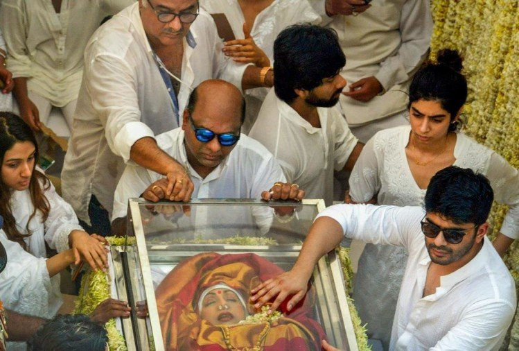 Bollywood Actress Sridevi Funeral live update