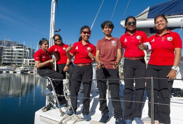 Indian Navy ship INVA Tarini led by all-women crew reached Capital of South Africa Cape Town