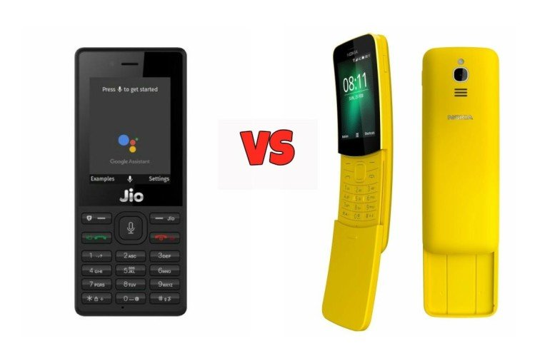 Jio Phone VS Nokia 8110 4G