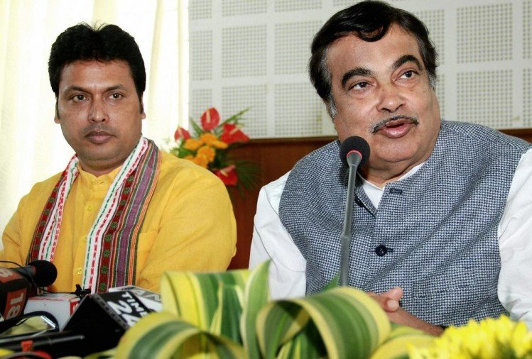 Biplab Kumar Deb will become new Chief Minister of Tripura said nitin gadkari