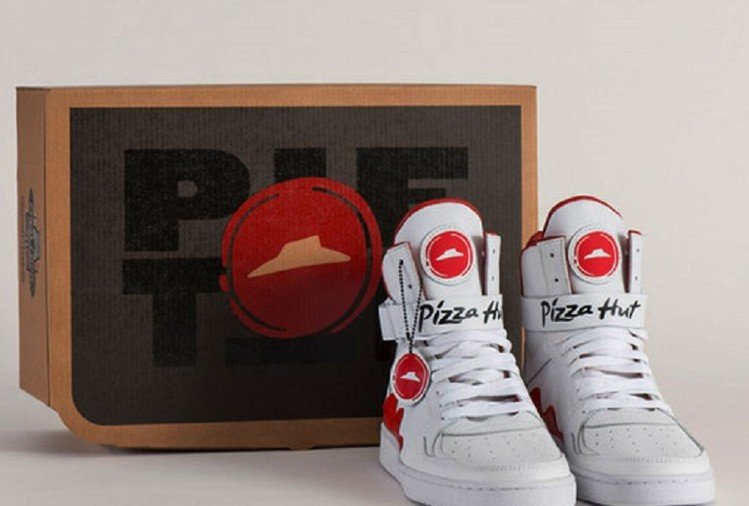 now order pizza through shoes as pizza hut launches this unique sneakers