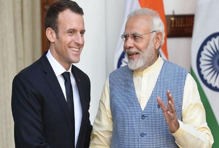 Emmanuel macron ,narendra modi ,sabha election ,french india ,result,फ्रांस,राष्ट्रपति,पीएम मोदी,बधाई,काम