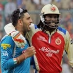 yuvraj singh and chris gayle