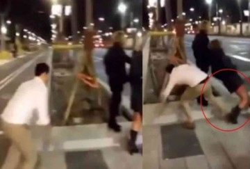 in spain man kicked a woman for making a viral video now pay 45 lack rupees