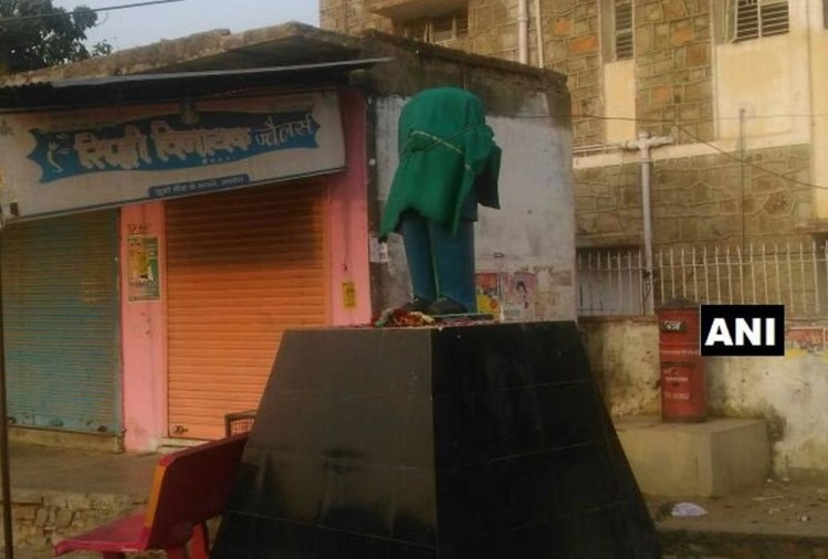 statue of Dr. B R ambedkar vandalized by miscreants rajasthans achorl