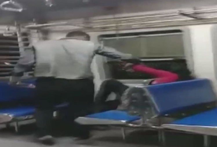 woman molested and beaten in running local train in mumbai