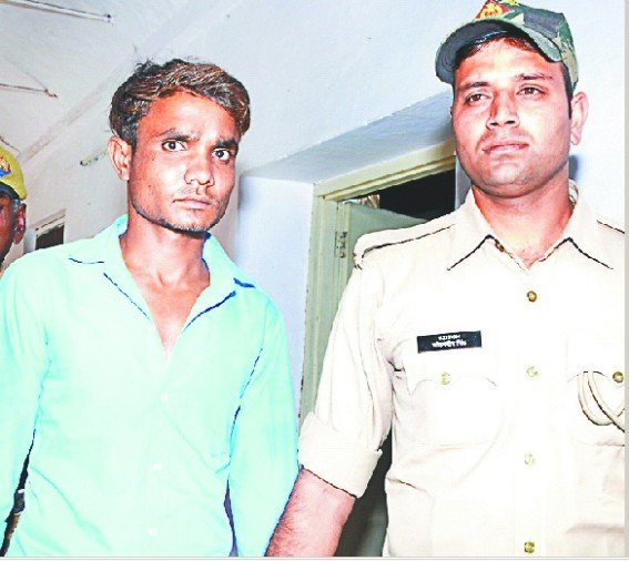 खतौली में बच्ची की हत्या करने का आरोपी युवक।