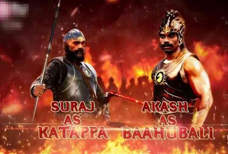 baahubali and katappa dancing with each other in tv viewers got shocked