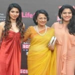 Tanuja and Kajol with Tanisha